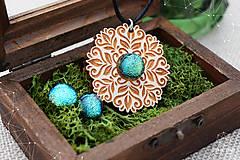 Sady šperkov - Rozprávkový kvietok (sada) - zelený - 9123983_