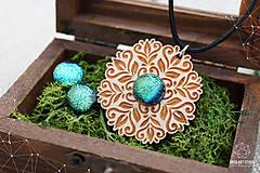 Sady šperkov - Rozprávkový kvietok (sada) - zelený - 9123984_