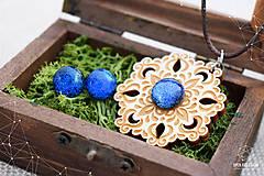 Sady šperkov - Rozprávkový kvet (sada) - modrý - 9124261_