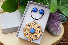 Sady šperkov - Rozprávkový kvet (sada) - modrý - 9124262_