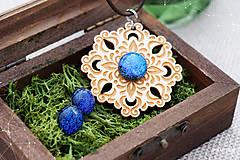 Sady šperkov - Rozprávkový kvet (sada) - modrý - 9124263_
