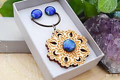 Sady šperkov - Rozprávkový kvet (sada) - modrý - 9124265_
