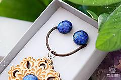 Sady šperkov - Rozprávkový kvet (sada) - modrý - 9124266_