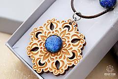 Sady šperkov - Rozprávkový kvet (sada) - modrý - 9124268_