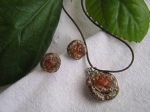 Sady šperkov - Orgonit-jantárová súprava - 9122468_