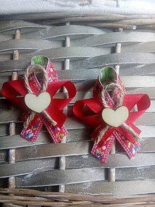 Pierka - Červené folk pierka - 9124752_