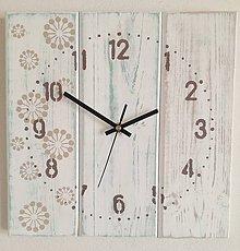 Hodiny - Nástenné hodinky - bublinková láska II (Tyrkysová) - 9124660_