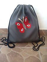 Batohy - Batoh s motýľom - 9125033_