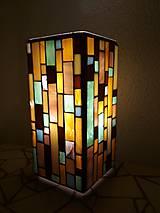 Svietidlá a sviečky - Mozaiková lampa...Farby Zeme - 9125451_