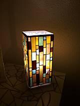 Svietidlá a sviečky - Mozaiková lampa...Farby Zeme - 9125452_