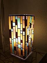 Svietidlá a sviečky - Mozaiková lampa...Farby Zeme - 9125453_