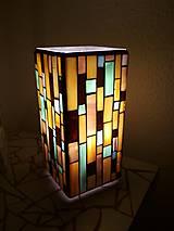 Svietidlá a sviečky - Mozaiková lampa...Farby Zeme - 9125454_