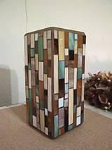 Svietidlá a sviečky - Mozaiková lampa...Farby Zeme - 9125457_