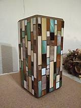 Svietidlá a sviečky - Mozaiková lampa...Farby Zeme - 9125458_