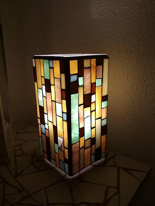 Mozaiková lampa...Farby Zeme