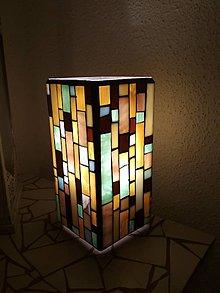 Svietidlá a sviečky - Mozaiková lampa...Farby Zeme - 9125447_