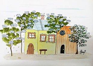Obrazy - V objatí bazy ilustrácia / originál maľba  - 9126025_