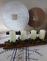 Dekorácie - Drevená dekorácia - kruh väčší - 9128044_
