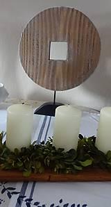 Dekorácie - Drevená dekorácia - kruh menší - 9128149_
