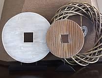 Dekorácie - Drevená dekorácia - kruh menší - 9128150_