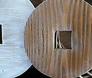 Dekorácie - Drevená dekorácia - kruh menší - 9128152_