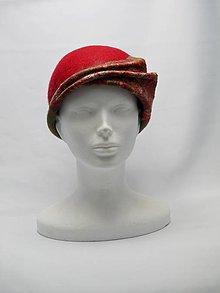 Čiapky - Dámsky červený klobúk - 9128693_