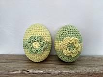 Dekorácie - Háčkované vajíčka zeleno-žlté - 9127906_