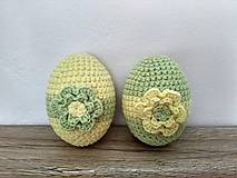 Dekorácie - Háčkované vajíčka zeleno-žlté - 9127908_