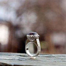 Prstene - Strieborný prsteň - V hĺbke - 9128566_