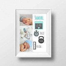 Detské doplnky - Plagát s údajmi dieťatka - 9126844_