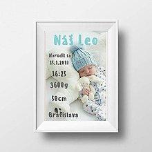 Detské doplnky - Kartička s údajmi na oznámenie narodenia - 9126899_