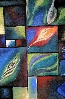 """Obrazy - """"Tajomné pierko"""" - suchý pastel - 9128414_"""