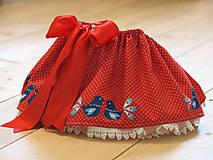 Sukne - ľudová sukienka pre najmenších - 9129305_