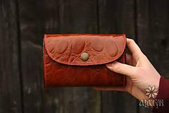 Peňaženky - Kožená peňaženka VIII. aj na veľké doklady - hnedá - 9128887_