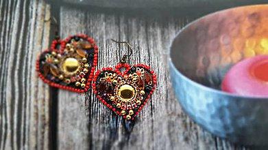 Náušnice - Valentínske špeciálne náušničky - 9126801_
