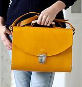 Veľké tašky - Kabelka na rameno MAXI SATCHEL BAG HONEY - 9125048_