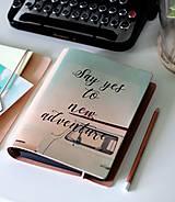 Kožený motivačný zápisník A5 (motivačný zápisník A5 ADVENTURE)