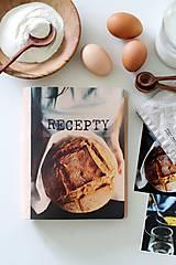Papiernictvo - -30% Kožený zápisník receptár A5 BREAD - 9128726_