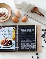 Papiernictvo - Kožený zápisník receptár A5 BLUEBERRY - 9128793_