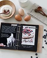 Papiernictvo - Kožený zápisník receptár A5 BLUEBERRY - 9128794_