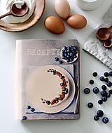 Papiernictvo - Kožený zápisník receptár A5 CAKE - 9128963_