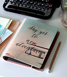 Papiernictvo - Kožený motivačný zápisník A5 (motivačný zápisník A5 ADVENTURE) - 9127706_