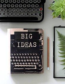 Papiernictvo - Kožený motivačný zápisník A5 BIG IDEAS - 9127939_