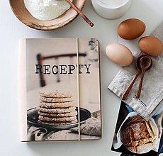 Papiernictvo - Kožený zápisník receptár A5 SIMPLE LIFE - 9129054_