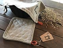 Úžitkový textil - Ľanová podložka pod hrniec - 9127862_