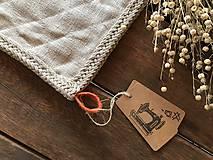 Úžitkový textil - Ľanová podložka pod hrniec - 9127865_