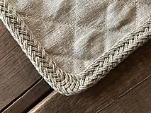 Úžitkový textil - Ľanová podložka pod hrniec - 9127870_
