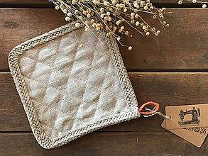 Úžitkový textil - Ľanová podložka pod hrniec - 9127877_