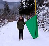 Nezaradené - Vlajka zelená saténová - 9127009_