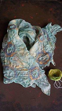 Šatky - Dámska plstená hodvábna šatka